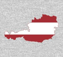 Austria Flag Map by cadellin