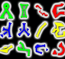 Stargate Glyphs Calender by Shada0071