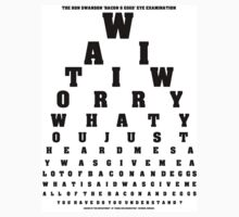 RON SWANSON - Bacon & Eggs Eye Examination by HalfFullBottle