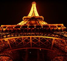 The Eiffel Tower at night by styles
