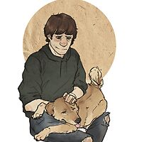 Sammy and puppy by Cesca N