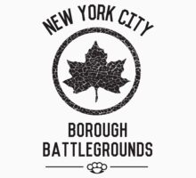 New York City Borough Battlegrounds t-shirt by motiongerm