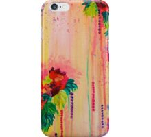 STRAWBERRY CONFETTI Abstract Acrylic Floral Bouquet Paainting Pretty Pink Red Peach Flowers iPhone Case/Skin
