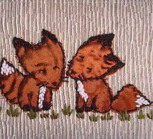 Stitched Foxes by Samantha Creary
