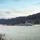 Tug Boat and Barges by LarryB007