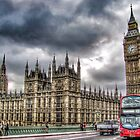 London - Big Ben and Bus by Scott Anderson