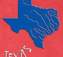 Texas State Map by FinlayMcNevin