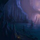 Sunlit Cave by Brandon  Riddoch