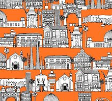 Los Angeles orange (card) by Sharon Turner