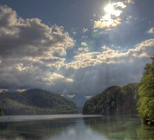 Forggensee Lake Schwangau Germany by ramiromarquez