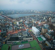 osaka city skyline by photoeverywhere