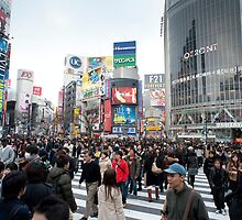 shibuya crossing by photoeverywhere