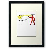 Ironman vs. Pikachu Framed Print