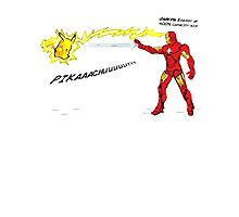 Ironman vs. Pikachu Photographic Print