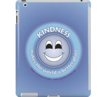 Kindness Makes The World a Better Place - Blue Cases iPad Case/Skin