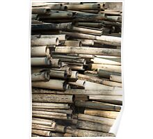 Cut and dried bamboo Poster