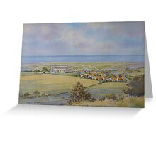 Salthouse from the Heath, North Norfolk by Brian C. Day Greeting Card