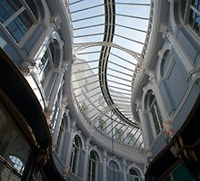 Curving glass roof of the Morgan Arcade by photoeverywhere