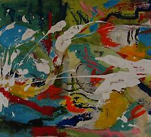 Abstract Mixed Media by Sonja Peacock