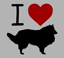 I heart Collies by Vana Shipton