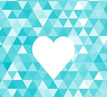 Heart on triangle background by blackestdress