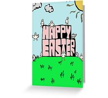 Happy Easter with chicks Greeting Card