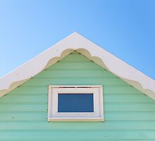 Pastel mint beach hut by Zoe Power