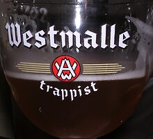 Westmalle Trappist Beer in Glass by velo