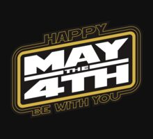 Happy May the 4th! (Yellow/White-Slanted) by justinglen75