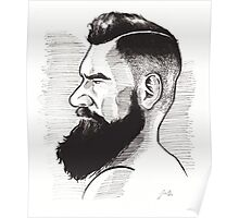 Kenny Brain - Bearded War Lord Poster