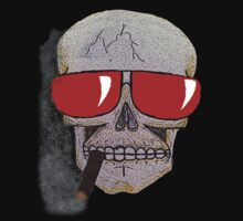 Cigar Smoking Skull w/ Red Sunglasses   by MrJDS1994