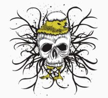 "Skull ""Chick In Skull"" Floral Ornate by artkrannie"