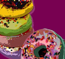 6 donuts Pop Art print by minjean