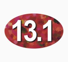 13.1 Oval Sticker - RED by robotface