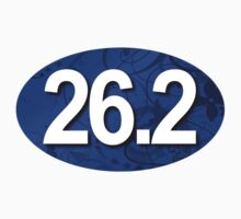 26.2 Oval Sticker - Fancy Blue by robotface