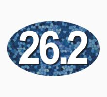 26.2 Oval Sticker - Blue Mosaic by robotface