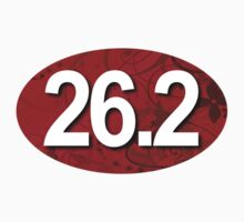26.2 Fancy Red Oval Sticker by robotface