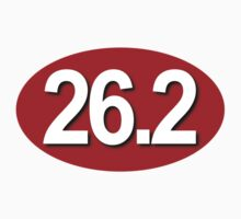 26.2 Oval Sticker - RED by robotface