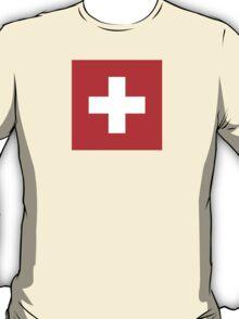 National Flag of Switzerland  T-Shirt