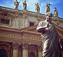 St Peter and Statues at The Vatican by Caractacus