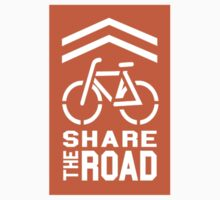 Share the Road Sticker - Orange Version by robotface
