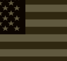 Subdued Olive Drab Military US Flag Sticker