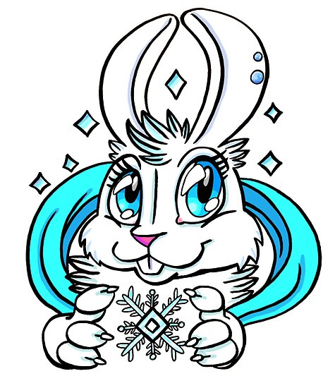 Cute Bunny - Snow Bunny by wallyhawk