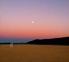 Beach Sunset by Moonlight by LisaThomasPhoto
