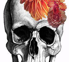 Skull & Flowers  by expressioniskey