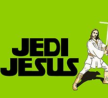 Jedi Jesus Poster/Iphone/T-Shirt by SpinClothes