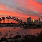 Colours of Sydney - Pink Dawn 2 by Anthony Ogle