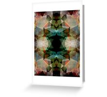Geometric Textured Abstract  Greeting Card