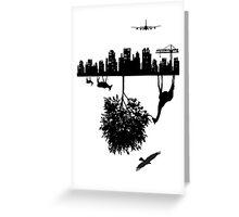 Man Above and Nature Below Greeting Card