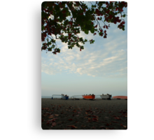 Outrigger canoes Canvas Print